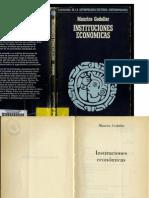 GODELIER- Instituciones Económicas 1981 (Antropología)
