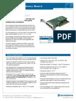 Sangoma A104 Quad Voice and Data Card Datasheet