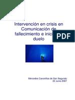 Intervencion en Crisis en Comunicacion de Fallecimiento e Inicio Del Duelo (01)