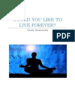 Would You Like to Live Forever-Sanath Dasanayaka
