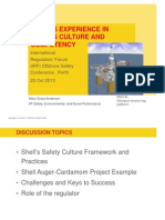 Shells Experience in Driving Culture and Competency a Focus on the Challenges and Successes of Translating Corporate Policies Into Field Practices