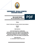 Report Managerial Finance@Unikl