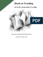 Handbook on Teaching -