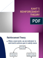 Kant's Reinforcement Theory