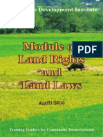 Module on Land Rights & Land Laws