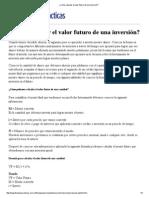 ¿Cómo Calcular El Valor Futuro de Una Inversión