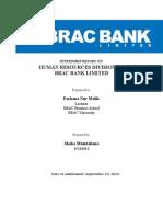 Intern Report on BRAC BANk Limited