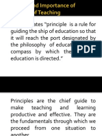 Meaning and Importance of Principles of Teaching