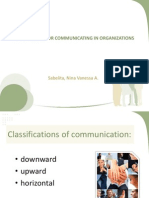 Techniques for Communication Org