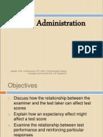 Psychological Testing Test Administration1