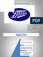 Boots- Hair Care Sales Promotion case study analysis