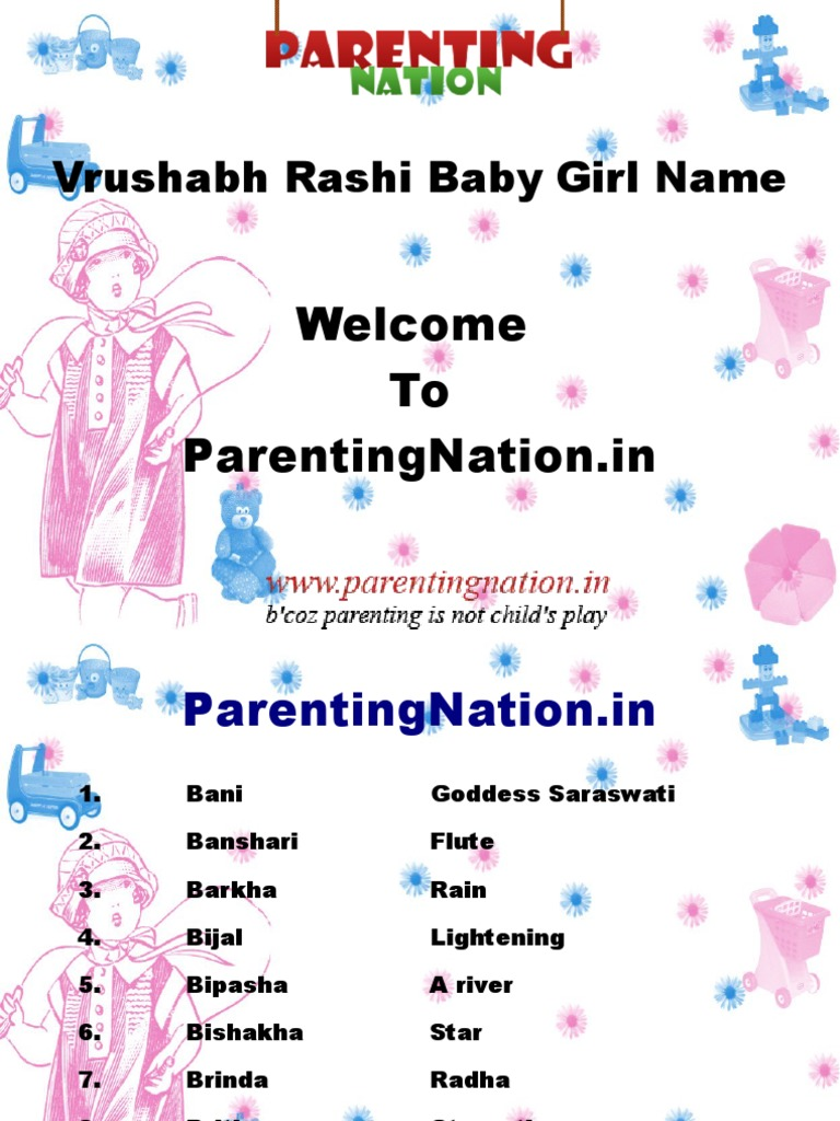 Vrushabh Rashi Baby Girl Names With Meanings | Politeísmo