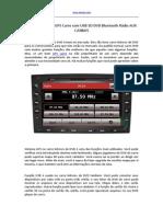 Renault Megane GPS Carro Com USB SD DVD Bluetooth Rádio AUX CANBUS