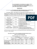 VSSUT Admission Notice