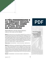 Pós-modernismo Nas Ciências Sociais