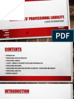 Architects Professional Liability