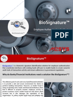 BioSignature - Employee Authentication for Banks