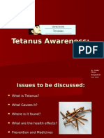 Tetanus Awareness: