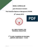 Model Curriculum PGDM 060912