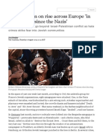 Antisemitism on rise acr... Society   The Guardian