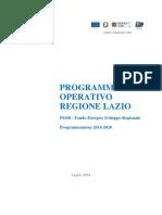 Regione Lazio Por Fesr 2014 2020 Luglio 2014