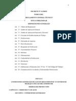 2.1-Reglamento General Tecnico de Seguridad, Higiene y Medicina Del Trabajo-Corregido-Dcto. Nº 14390-92
