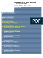 Agilent documentation Set