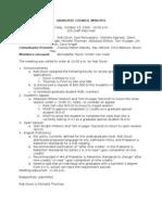 Graduate Council Minutes Friday, October 23, 2009 - 10:00 a.m.
