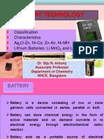 Batteries & Fuel Cells Dr. Siju N. Antony