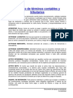 Glosario Términos Contables y Tributarios SAT-2014