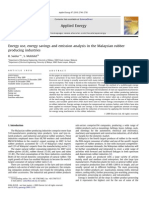Energy Use, Energy Savings and Emission Analysis in the Malaysian Rubber Producing Industries