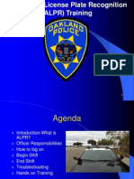 Automated License Plate Recognition ALPR Training