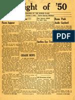 Spotlight of '50 Newsletter No. 1