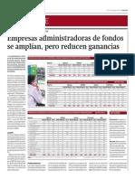 Empresas Administradoras de Fondos Se Amplían_Gestión 8-08-2014