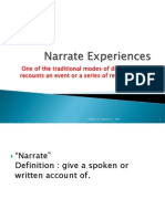 Narrate Experiences