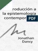 Jonathan Dancy - Introduccion a Epistemologia