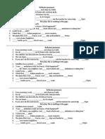 Articles and Reflexive Pronouns