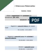 Afatet e Provimeve Dhe Semestrave Master 2012 2013(2)