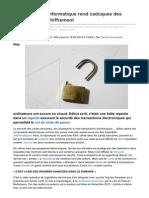 Lemonde.fr-une Perce en Informatique Rend Caduques Des Procdures de Chiffrement