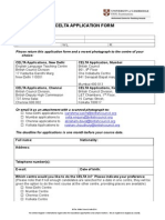 Celta Application Form 2014