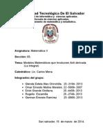 Aplicaciones de Deribadas Con Modelos Matematicos Para Ing.