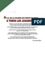 A TODOS LOS JUGADORES