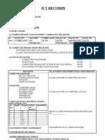REVISED INSTRUCTIONS REGARDING ICT RECORDS