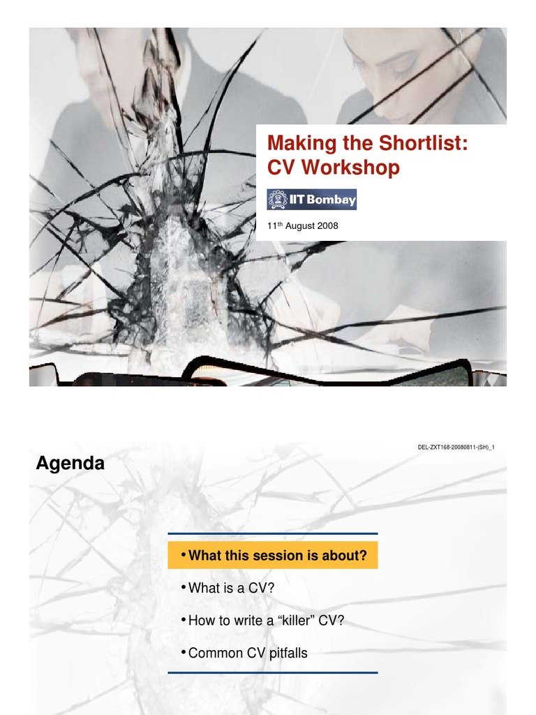 Mckinsey CV workshop | Text | Writing