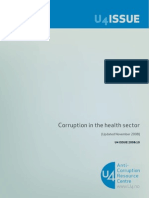 Corruption in the Health Sector