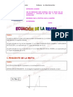 Ecuación de La Recta (Repaso)2013