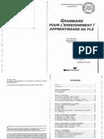 GrammairePourL'Enseign ApprentissDuFLE GenevieveDeSALINS