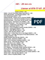 Catálogo de Conciertos HD