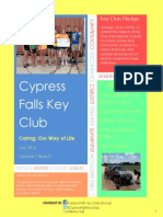 Cypress Falls Key Club July 2014 Newsletter