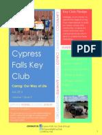 Cypress Falls Key Club July 2014 Newsletter